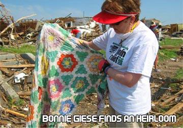 Bonnie Giese finds an blanket heirloom