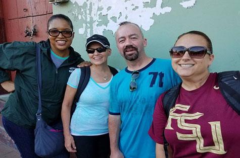 nsu's drs vanessa anton, jim ferrell, lisa bisogno, and allyson watson in nicaragua